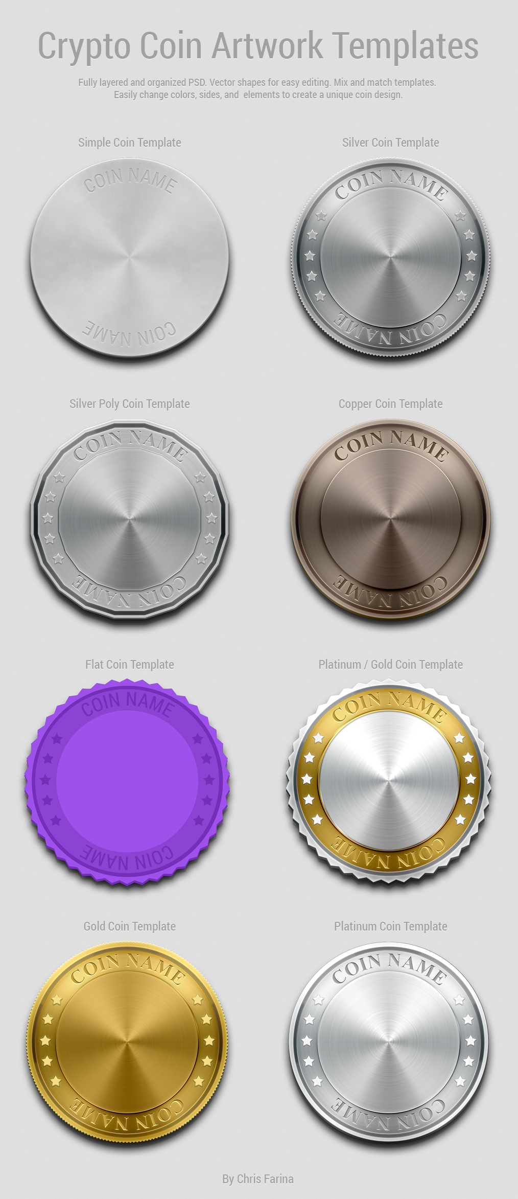 crypto coin artwork template free psd